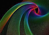 Swirling rainbow colored lines - Stock Image - BEWFAG