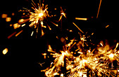 Sparklers on Guy Fawkes Night - Stock Image - AXTJ98