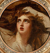 'Lady Hamilton as Cassandra' - painting by George Romney, c. 1785-6. Courtesy of the Tate Gallery, London, - Stock Image - B0DT1F