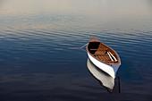 Gander River canoe Gander Bay Newfoundland&Labrador Canada - Stock Image - B5H3J2