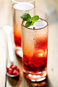 pomegranate drink - Stock Image - BW32M8