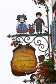patisserie shop wrought iron sign h allemann eguisheim alsace france - Stock Image - C0TDH3