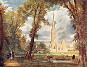 Salisbury Cathedral - Stock Image - BKNWKK