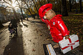 London, UK. 17th Nov, 2014. The Bear (Golden Paws) designed by David Beckham - Statues form part of The Paddington Trail, sponsored by Barclaycard. The statues will be on display across London until 30 December © Guy Bell/Alamy Live News - Stock Image - EAKH74