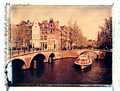 Keizersgracht Canal, Amsterdam, Holland - Stock Image - AY8494