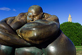 A sculpture by Colombian artist Botero in La Coruna, Spain. - Stock Image - CY31C1