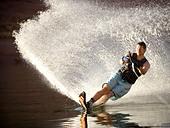Man on a water ski. - Stock Image - BJD90G
