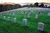 California, San Francisco, Military Cemetery, Presidio, GGNRA - Stock Image - A98BCD