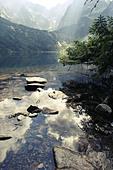 "Morskie Oko ""Marine Eye"" Lake, Tatra Mountains, Poland. - Stock Image - CC66JA"
