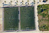 Football Fields, Santiago, Chile, South America - aerial - Stock Image - BP1WJB