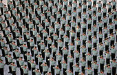 Nanjing. 1st Oct, 2014. Armed policemen salute in a flag-raising ceremony marking the 65th anniversary of the founding of the People's Republic of China in Nanjing, capital of east China's Jiangsu Province, Oct. 1, 2014, also the Chinese National Day. © Li Ke/Xinhua/Alamy Live News - Stock Image - E8522G