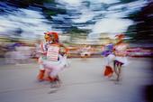 Dancers at Street Festival, Havana, Cuba - Stock Image - B51RJH