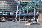 London, UK. 01st Sep, 2013. London is to host the start and finish of the 2013-14 edition of the Clipper Round the World Yacht Race, leaving the capital on 1 September 2013 and not returning until July 2014 after racing 40,000 miles visiting 14 ports on six continents in the world's longest ocean race.  The event will see the debut of the third generation Clipper 70 ocean racing yacht, that was launched earlier in the year at St Katharine Docks. © Ashok Saxena/Alamy Live News - Stock Image - DDF0FC