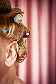 hairdressing,curlers,haircare - Stock Image - CWHT1R