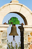 Detail of bell from the church of All Saints at Stavrovouni monastery, Cyprus. - Stock Image - ED87CW