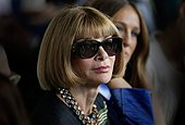 epa04396452 Anna Wintour, editor-in-chief of US Vogue attends the Calvin Klein fashion show during the Spring/Summer 2015 collections at Mercedes-Benz Fashion Week in New York, New York, USA, 11 September 2014. The Spring 2015 collections are presented from 04 to 11 September.  EPA/PETER FOLEY - Stock Image - E7D9X0
