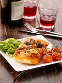 Ciabatta Pizza - Stock Image - BY8RWN