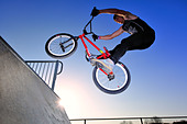 BMX Freestyle - Stock Image - CN06D6