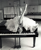 Ballerina on the Piano - Stock Image - A744AA