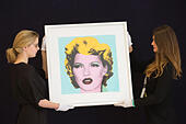 London, UK. 15 June 2015. Kate Moss by Banksy. Preview of the Bonhams' British Master Prints sale which takes place on 17 June 2015 in London. © Nick Savage/Alamy Live News - Stock Image - ETN6DD