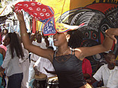 Rumba Dance at Calle Jon de Hamel Havana Cuba - Stock Image - AHEB1F