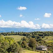 View of Caucasus mountains, Abkhazia - Stock Image - EA3AGM
