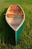 Hand Built wooden canoe - Stock Image - A6NC50