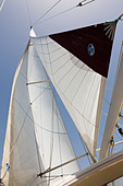 Super Marami 2000 yacht sailing in the Mediterranean Sea - Stock Image - E128E3