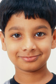 small young smiling boy portrait face close up   MR#152 - Stock Image - CE6DR1