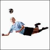 Soccer player - Stock Image - BMJ0WY