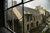 Welsh heritage and history: The Canolfan Owain Glyndwr Centre, Machynlleth, Powys, Wales UK - Stock Image - HDGXMY