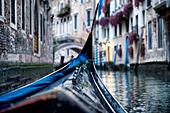 Gondolas in Venice - Stock Image - HT7C0P