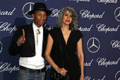 Palm Springs, Ca. 2nd Jan, 2017. Pharrell Williams, Helen Lasichanh at the 2017 Palm Springs International Film Festival Gala at the Palm Springs Convention Center in Palm Springs, California on January 2, 2017. © David Edwards/Media Punch/Alamy Live News - Stock Image - HG69P4