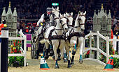 London, UK. 17th Dec, 2016. Olympia The London International Horse Show at Grand Hall Olympia London UK. The FEI World Driving leg Josef Dobrovitz HUN Credit: Leo Mason sports photos/Alamy Live News - Stock Image - HE614P