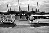 Bus station in Cheb (Czech Republic) - Stock Image - HBDEXJ