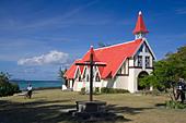 Eglise de Cap Malheureux Mauritius Africa - Stock Image - B7FWF7