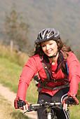 Mountain biking Hayfield Peak District National Park Derbyshire England UK GB - Stock Image - B4F75Y