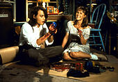 Apr 16, 1993; Spokane, WA, USA; JOHNNY DEPP as Sam and MARY STUART MASTERSON as Juniper 'Joon' Pearl in the comic, romance, drama 'Benny and Joon' directed by Jeremiah S. Chechik. - Stock Image - F6FT23