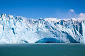 Perito Moreno glacier, Lago Argentino, Los Glaciares National Park, near El Calafate, Patagonia, Argentina - Stock Image - C90FYT