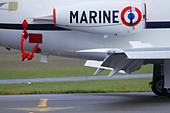 french military airplane marine - Stock Image - C04RJY