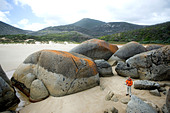 Granite rocks, Whisky Bay, Wilsons Promontory National Park, Victoria, Australia - Stock Image - C90GPB