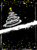 Grunge Christmas background - Stock Image - B563PB
