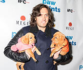 New York, NY, USA - December 19: Andrew Jenks with adoptable dogs attends Paw Prints 1st Annual Paw-liday party screening of 'Best in Show' at IFC center Credit: Sam Aronov/Alamy Live News - Stock Image - KRFE86