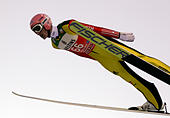 Ski Jumping - 65th four hills tournament trial round - Oberstdorf, Germany - 29/12/2016 - Germany's Severin Freund soars through the air. REUTERS/Michael Dalder - Stock Image - HFB0PJ
