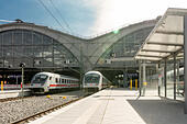 Leipzig Central Station - Stock Image - HBBX3T
