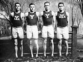 Yale Relay Team: M.D. Kirjassoff, L.B. Stevens, R.A. Spitzer, R.W. LaMontagne - Stock Image - C534CF