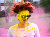 The Color running race - Stock Image - H6092M