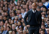 Britain Soccer Football - Tottenham Hotspur v Manchester City - Premier League - White Hart Lane - 2/10/16 Manchester City manager Pep Guardiola  Action Images via Reuters / Andrew Couldridge Livepic EDITORIAL USE ONLY. - Stock Image - H9WCHB