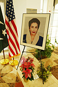 Tribute book signing to Benazir Bhutto, Prime Minister of Pakistan who was assassinated on December 27, 2007, after departing a - Stock Image - C2HJG2