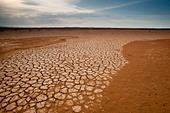 Desert landscape at Sarigua national park, Herrera province, Republic of Panama. - Stock Image - CB564M